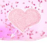 Walentynka dnia kartka z pozdrowieniami. + EPS8 Zdjęcie Stock
