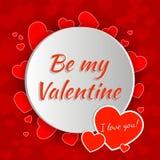 Walentynka dnia kartka z pozdrowieniami projekt Zdjęcie Royalty Free