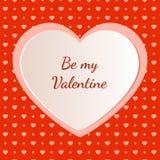 Walentynka dnia kartka z pozdrowieniami projekt Zdjęcia Stock