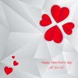 Walentynka dnia kartka z pozdrowieniami, walentynki tło, walentynki, kocham ciebie Zdjęcia Royalty Free