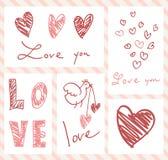 Walentynka dnia karty Obrazy Royalty Free
