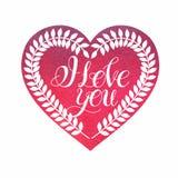 Walentynka dnia karty miłość Zdjęcie Stock