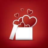 Walentynka dnia karty pojęcie z teraźniejszość lub Zdjęcie Royalty Free