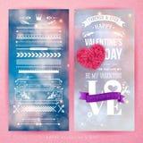 Walentynka dnia karty szablon i set projektów elementy obraz royalty free