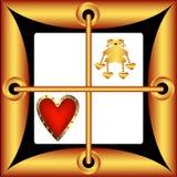 Walentynka dnia karty w postaci kwadrata Obraz Stock