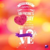 Walentynka dnia karty wektoru ilustracja Jaskrawy, zamazany tło, fotografia royalty free