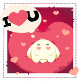Walentynka dnia królika sen Zdjęcie Stock