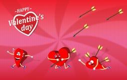 Walentynka dnia kreskówka ilustracja wektor