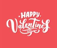 Walentynka dnia literowanie dla kartka z pozdrowieniami projekta, romantyczna ilustracja świąteczna dekoracja Zaproszenie szablon royalty ilustracja