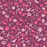 Walentynka dnia miłości bezszwowy wzór Obrazy Royalty Free