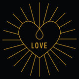 Walentynka dnia miłości karta Obrazy Stock
