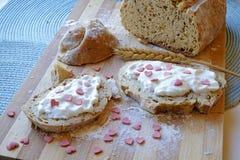 Walentynka dnia śniadania krajobrazu strona szeroka Fotografia Stock