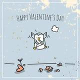 Walentynka dnia pingwin Fotografia Royalty Free