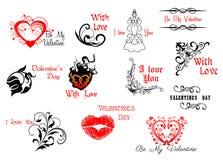 Walentynka dnia pisma i chodnikowowie royalty ilustracja