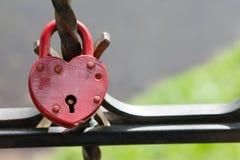 Walentynka dnia pocztówki szablon Zamknięta kłódka, rocznika projekt, makro- widok Miłości pojęcia wizerunek Zdjęcia Stock