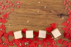 Walentynka dnia pojęcia serce jest spadku miłością obrazy royalty free
