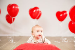 Walentynka dnia portret zdjęcie stock