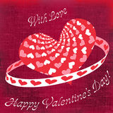 Walentynka dnia powitania Fotografia Royalty Free