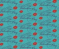 Walentynka dnia powitania bezszwowy wzór Zdjęcia Royalty Free