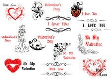 Walentynka dnia projekta elementy ilustracja wektor