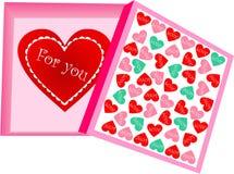 Walentynka dnia pudełko Obraz Royalty Free