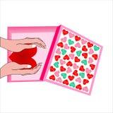 Walentynka dnia pudełko Obrazy Royalty Free