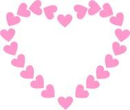 Walentynka dnia rama Fotografia Stock
