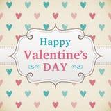 Walentynka dnia retro plakat Obraz Stock