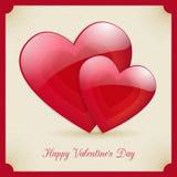 Walentynka dnia retro plakatowy karciany projekt Fotografia Royalty Free