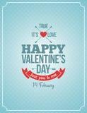 Walentynka dnia rocznika retro tło Obraz Stock