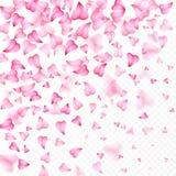 Walentynka dnia romantyczny tło różowy serce płatków spadać Realistyczny kwiatu płatek w kształcie kierowi confetti Miłość _ Obraz Royalty Free