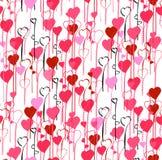 Walentynka dnia serc bezszwowy deseniowy tło Ilustracji