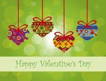 Walentynka dnia serc Wiszący ornamenty royalty ilustracja