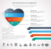 Walentynka dnia serca infographics Zdjęcia Royalty Free