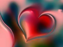 Walentynka dnia serca z ocienionym tłem zdjęcia royalty free
