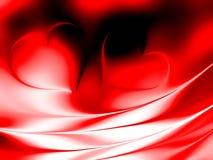 Walentynka dnia serca z ocienionym tłem obrazy stock