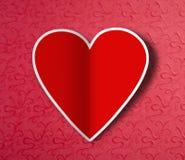 Walentynka dnia serce. royalty ilustracja