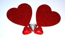 Walentynka dnia serce Obrazy Stock