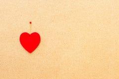Walentynka dnia serce na drewnianym tle Fotografia Stock