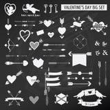 Walentynka dnia set Obrazy Stock