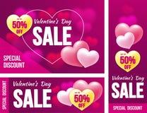 Walentynka dnia sprzedaż royalty ilustracja