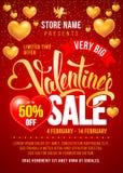 Walentynka dnia sprzedaży projekta szablon ilustracja wektor