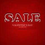 Walentynka dnia sprzedaż Obrazy Stock