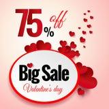 Walentynka dnia sprzedaży flayers Zdjęcia Royalty Free