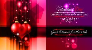 Walentynka dnia szablon z oszałamiająco sercami Fotografia Stock