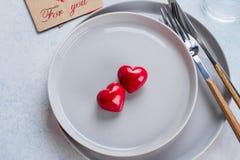 Walentynka dnia tła stołu położenie fotografia stock