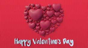 Walentynka dnia tło 3d odpłaca się 3d ilustrację Zdjęcie Stock