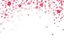 Walentynka dnia tło, kierowych confetti spada miłości wektorowa abstrakcjonistyczna ilustracja dekoracja royalty ilustracja