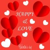 Walentynka dnia tło z balonu serca wzorem royalty ilustracja