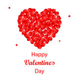 Walentynka dnia tło z różanymi płatkami kierowymi Obraz Stock